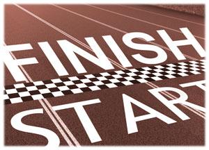 Terminar para empezar, así que  empieza por terminar.
