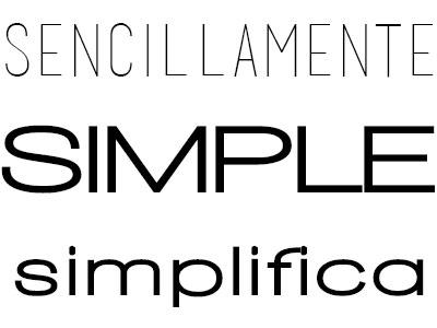 Sencillamente simple, mejor que simple