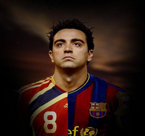 Xavi, un buen líder