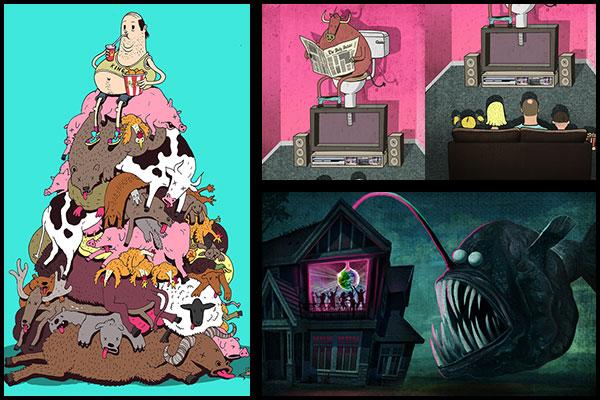 Ilustraciones con animales – Steve Cutts